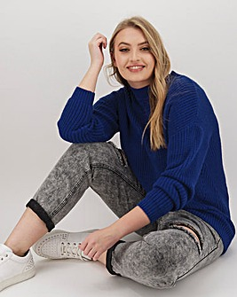 Cobalt Pointelle Jumper