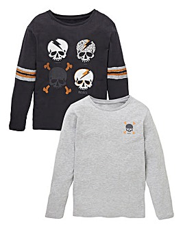 Boys Pack of Two Long Sleeve T-Shirts