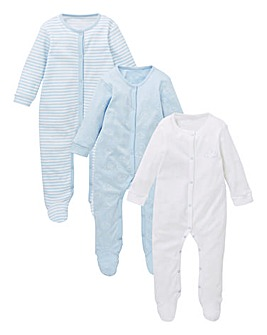 Baby Boy Pack of Three Sleepsuits