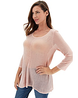 Blush Dip Back Swing Tunic