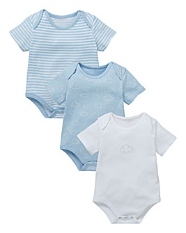 Baby Boy Pack of Three Bodysuits
