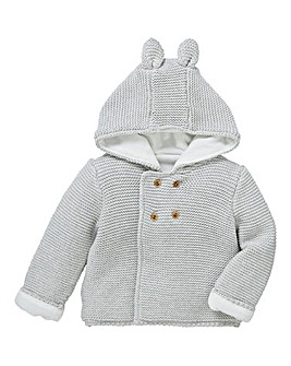 KD Unisex Baby Fleece Lined Cardigan