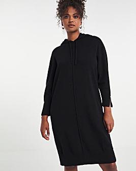 Full Needle Hooded Dress