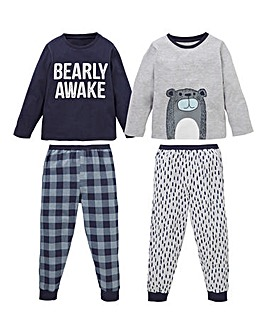 Younger Boys Pack of Two Pyjamas