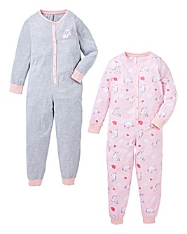 KD Girls Pack of Two Onesies