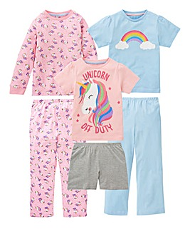 KD Younger Girls Pack of Three Pyjamas
