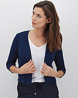 Navy Button Sleeve Shrug