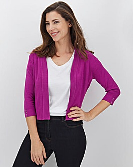 Purple Button Sleeve Shrug