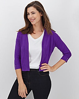 Purple Button Sleeve Shrug