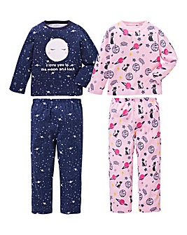KD Younger Girls Pack of Two Pyjamas