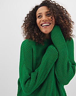 Green Pointelle Jumper