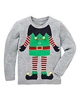 KD Christmas Knitted Elf Jumper