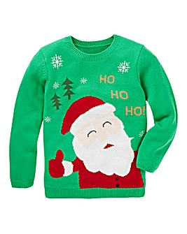 KD Christmas Knitted Santa Jumper