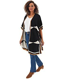 Kimono Sleeve Colourblock Cardigan