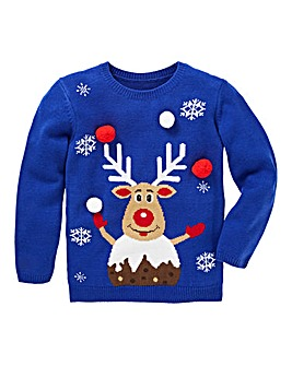KD Christmas Knitted Reindeer Jumper