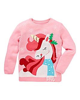 KD Christmas Knitted Unicorn Jumper