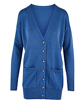Blue Boyfriend Cardigan