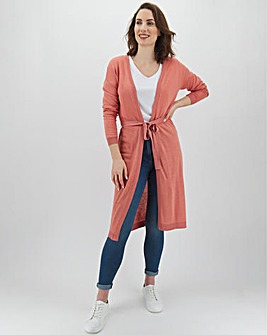 Edge To Edge Linen Cardigan With Metallic Trims