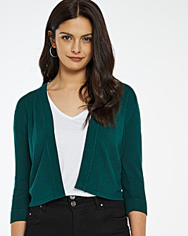 Sea Green Button Sleeve Shrug