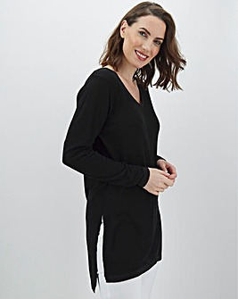 Linen Side Split Tunic With Metallic