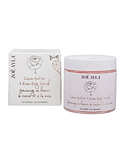 Zoe Ayla Cocoa Butter & Rose Body Scrub 226g