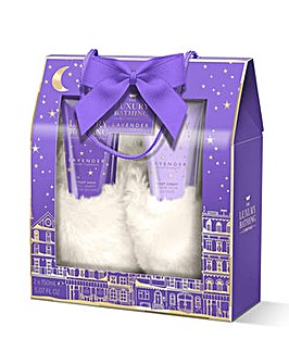 Grace Cole Lavender Slipper Set