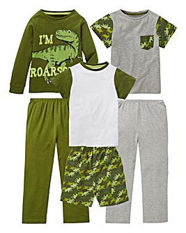 Younger Boys Pack of Three Pyjamas
