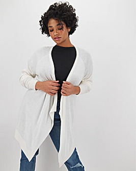 Linen Waterfall Cardigan