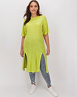 Linen Side Split Maxi Tunic