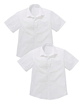 Boys Pack of Two S/S School Shirts S