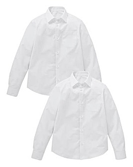 Boys Pack of Two L/S School Shirts Gen