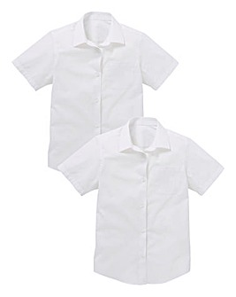 Girls Pack of Two S/S School Shirts S