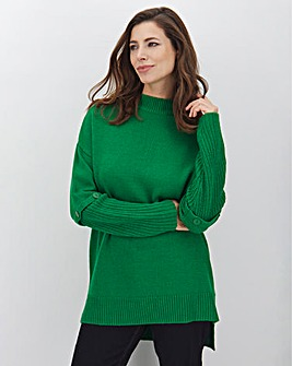 Green Button Sleeve Tunic