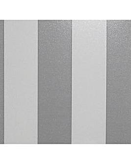 Arthouse Dazzle Stripe Silver Wallpaper