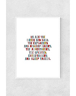 East End Prints We Are The Young Framed Art Print