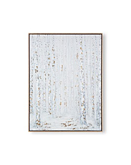 Art for the Home Beautiful Birch Trees Box Famed Printed Canvas