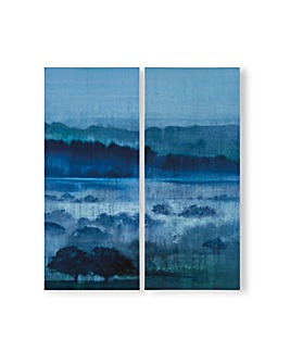 Art for the Home Hazy Fields Set of 2 Printed Canvas
