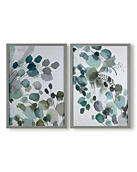 Art for the Home Sage Sprigs Set of 2 Printed Canvas