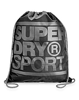Superdry Black Drawstring Bag