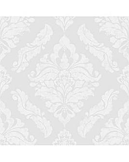 Boutique Silver Damaris Damask Wallpaper