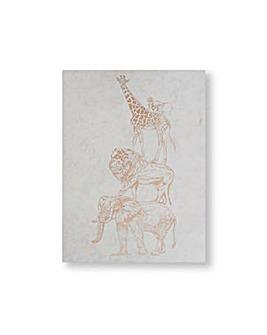 Art for the Home Netural Safari Animals Metallic Printed Canvas