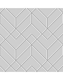 Superfresco Easy Losanges filaires gris et silver Wallpaper