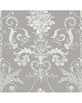 Laura Ashley Josette Steel Wallpaper