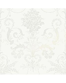 Laura Ashley Josette White Wallpaper
