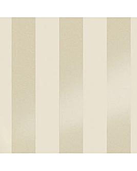 Laura Ashley Lille Pearlescent Stripe White Wallpaper