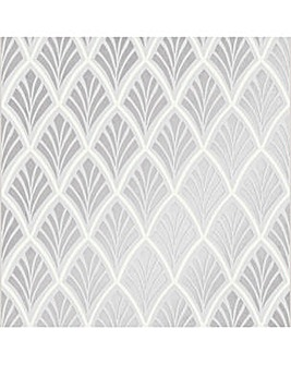 Laura Ashley Florin Silver Wallpaper
