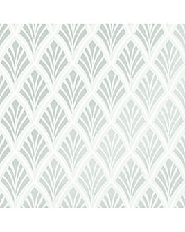 Laura Ashley Florin Duck Egg Wallpaper
