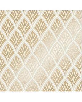 Laura Ashley Florin Gold Wallpaper