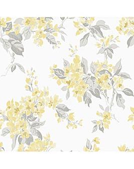 Laura Ashley Apple Blossom Sunshine Wallpaper