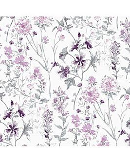 Laura Ashley Wild Meadow Pale Iris Wallpaper